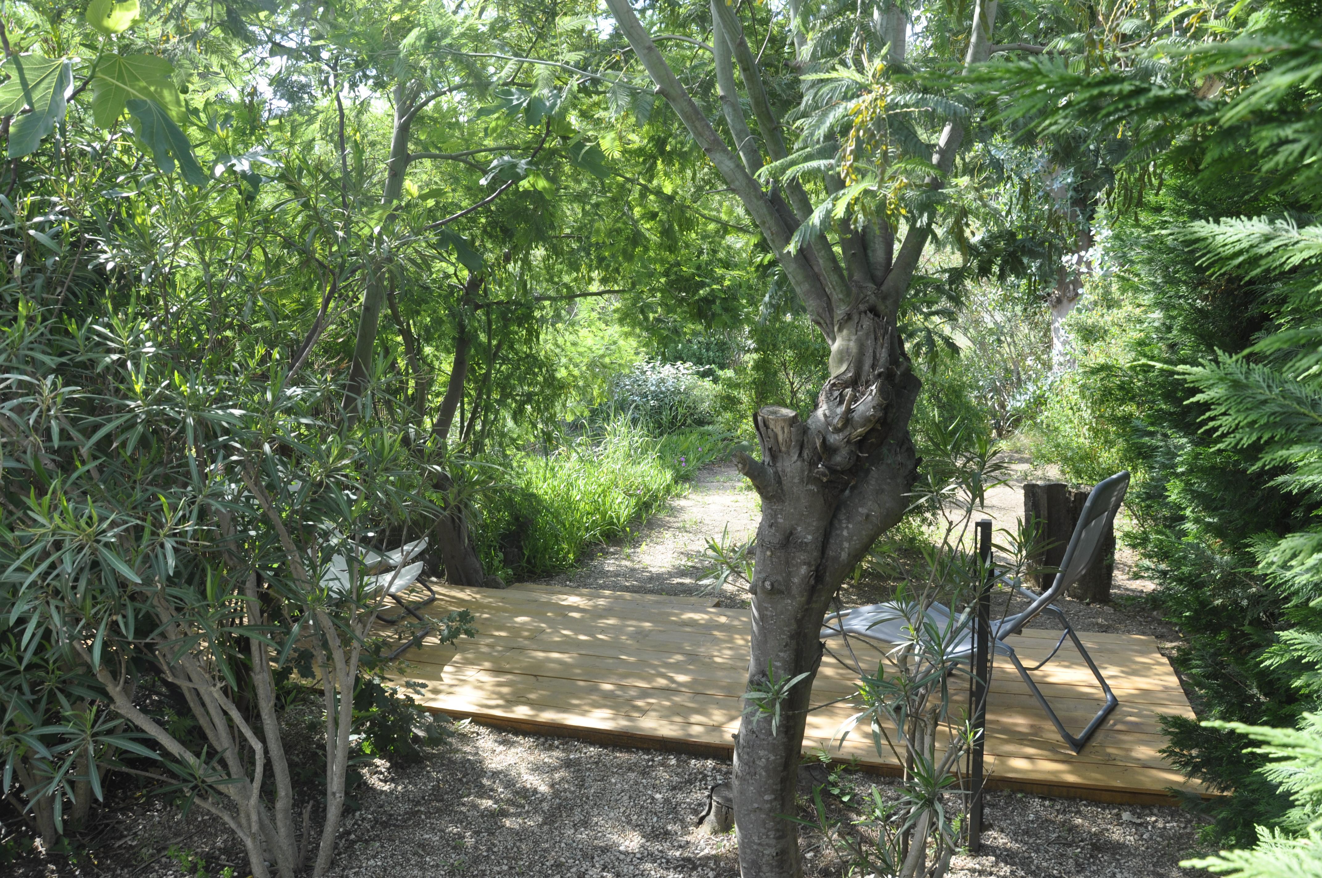 Un petit jardin bien abrité