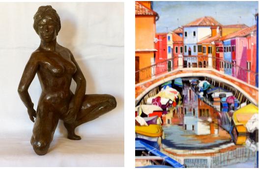 Claude Cathray invite Alain Horlaville en sa résidence d'Artiste à Sesimbra