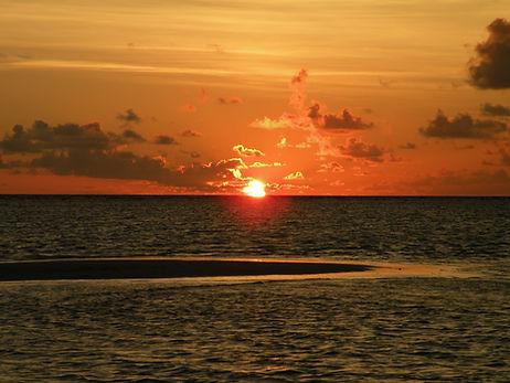 vacances coucher de soleil le Lavandou