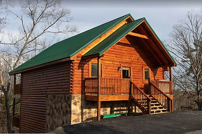 Pigeon Forge Cabins for Christmas, Cinematic splash, exterior view