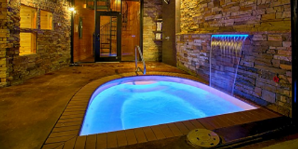 Urban Cowboy cabin indoor pool