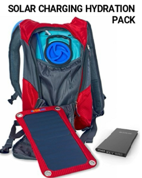 SunLabz Solar Charging Hydration Backpack