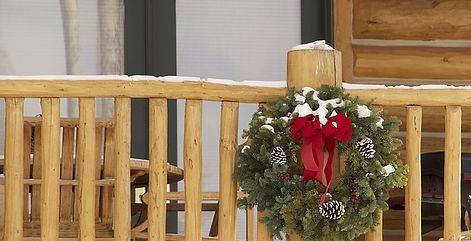 wreath cabin