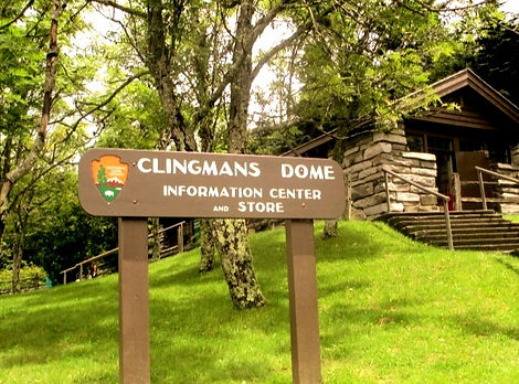 Sign for Clingman's Dome Information Center and Store