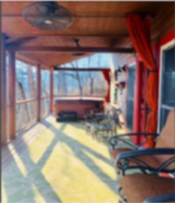 Bedroom of Cavie's Cove honeymoon cabin in Gatlinburg Tn