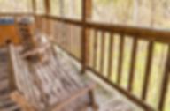 Comfy Cozy cabin porch swing