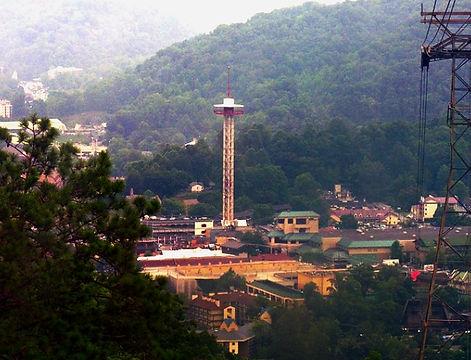 Gatlinburg Space Needle mountain view