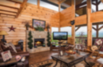Cabin named Unforgettable, a pet friendly cabin near Dollywood, interior and fireplace