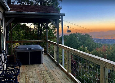 The Big View lodge, deck view and Ober Tram view, Gatlinburg
