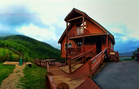 Cabin with roll in shower Above the clouds exterior, Wears Valley, Sevierville cabins, ADA cabins