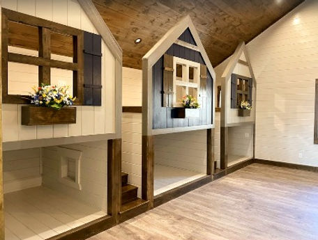 Custom made kid's bunkbeds inside Grand LeConte Lodge Exterior, cabin in Pigeon forge near Dollywood, ADA Accessible with pool inside