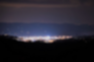 Mountain view at night from Cloud Nine Cabin