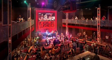 Ole Red Entertainment Bar and Restaurant and live music venue coming to Gatlinburg TN 2019
