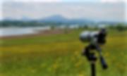 spotting scope view, beautiful view, birding, wildlife viewing