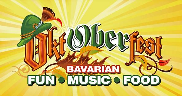 Ober Oktoberfest sign says Bavarian Fun Music & Food