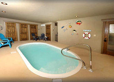 Cabins for Christmas & Thanksgiving in Gatlinburg, Movie Dive Inn, Gatlinburg Chalet with indoor pool, pool view