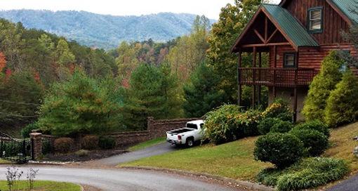 Beautiful view of cabin rental in Parkside Resort Gatlinburg Tennessee