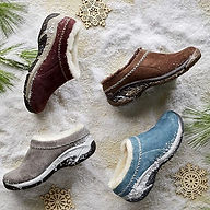Merrell fur slip on shoes