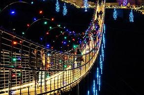 Skybridge at  Christmas time in Gatlinburg Tennessee