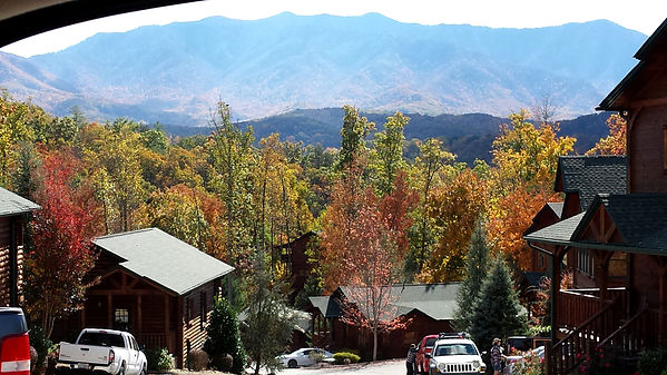 Fall Mountain view from Hidden Valley Resort in Gatlinburg TN