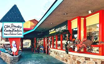 Ole Smoky Candy Kitchen, Gatlinburg TN, exterior of shop
