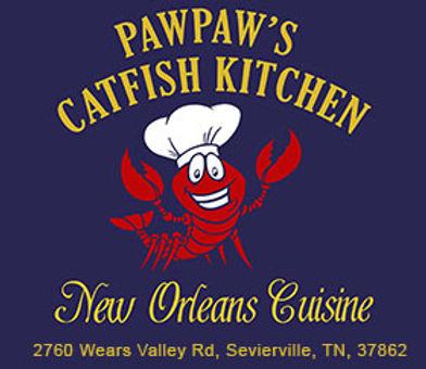 Pawpaw's Catfish Kitchen logo, Wears Valley TN
