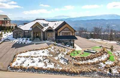 large Wheelchair accessible cabin in Sevierville, Pigeon Forge, TN, exterior, mountian view