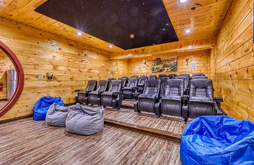 Grand Orchard lodge, Large Cabin Rental in Gatlinburg TN, theater room