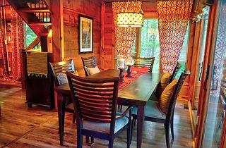 High Haven Honeymoon Cabin rental in Gatlinburg TN, dining room