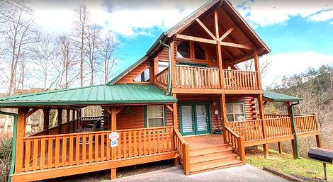 Cabin rental near Anakeesta and downtown Gatlinburg, Smoky Heights, Gatlinburg, exterior front view