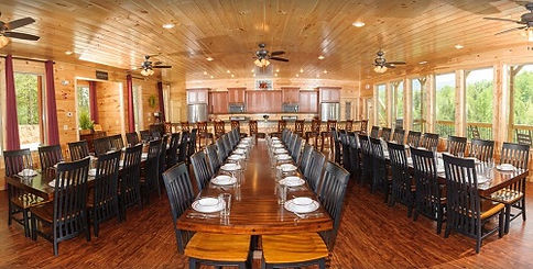 cabins with elevators, Greenbrier estates huge dining room