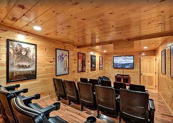 Large Secluded Cabin in Gatlinburg or Pigeon Forge,Parkside Lodge, theater room