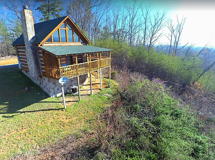 Pigeon Forge Cabin rental with view, exterior ofStairway to Heaven cabin
