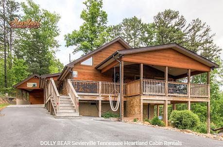 ADA friendly cabin in sevierville, smoky mountains handicap accessible cabins, Dolly Bear exterior