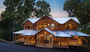 Beautiful Large log cabin for groups in Pigeon Forge exterior