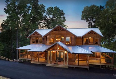 Large Cabin exterior Mountain Cascades Lodge in Pigeon Forge