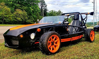 UTV for rent in Pigeon Forge, ExoRent open air roadster