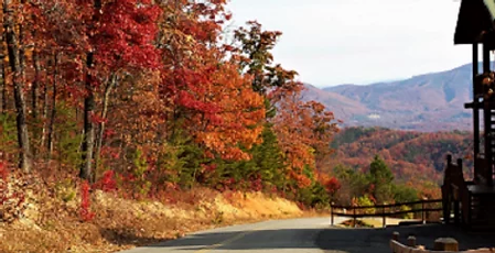 Fall at The Preserve Resort in Wears Valley TN, Great Smoky Mountains