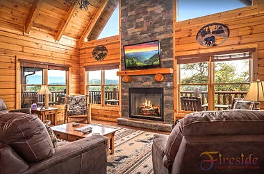 """""""Cabin of Dreams"""" living room, near the Island in Pigeon Forge, Tennessee"""