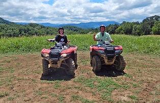 2 ATV riders at Jayell Ranch, Pigeon Forge, TN