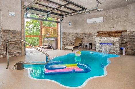 Rainwater Falls indoor pool