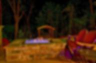 Urban Cowboy honeymoon cabin firepit outside