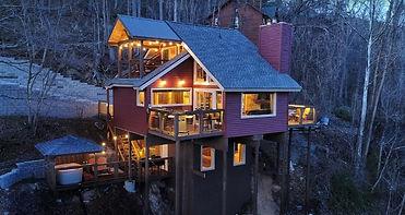 Gatlinburg cabin rental with city view, City Lights