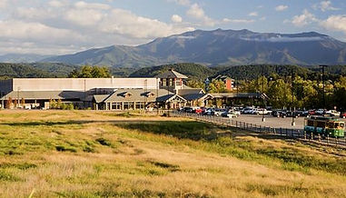 LeConte Mountain view parking lot, Pigeon Forge, Tennessee