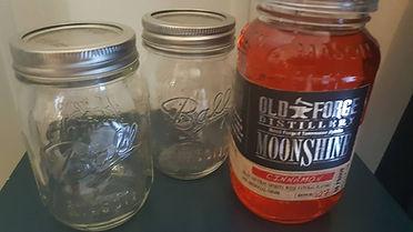 Smoky Mountain moonshine, mason jars