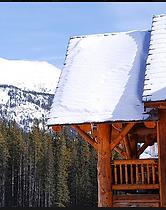 Winter Cabin mountains