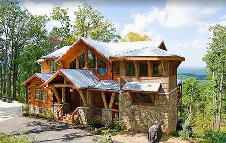 Exterior View Eagle River Cabin in Pigeon Forge TN, cabins with indoor private pools