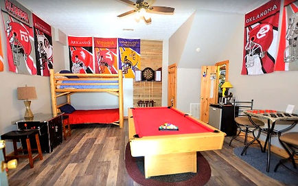 Firefly Hollow, cabin near The Island in Pigeon Forge, Tennessee, game room
