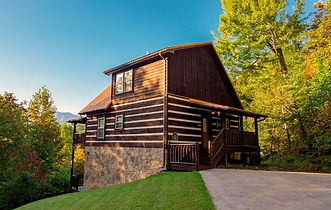 Holy Smokies Pool Palace, Gatlinburg cabin with Indoor Pool, exterior mountain and cabin view