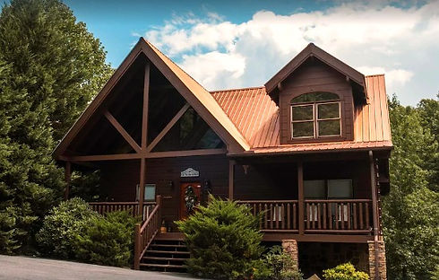 Bear Tale's Lodge, Cabin near the Island in Pigeon Forge, TN, exterior front view
